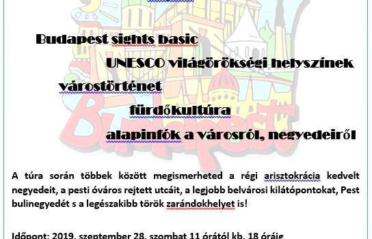 Budapesti alapozó városnézés 1.2