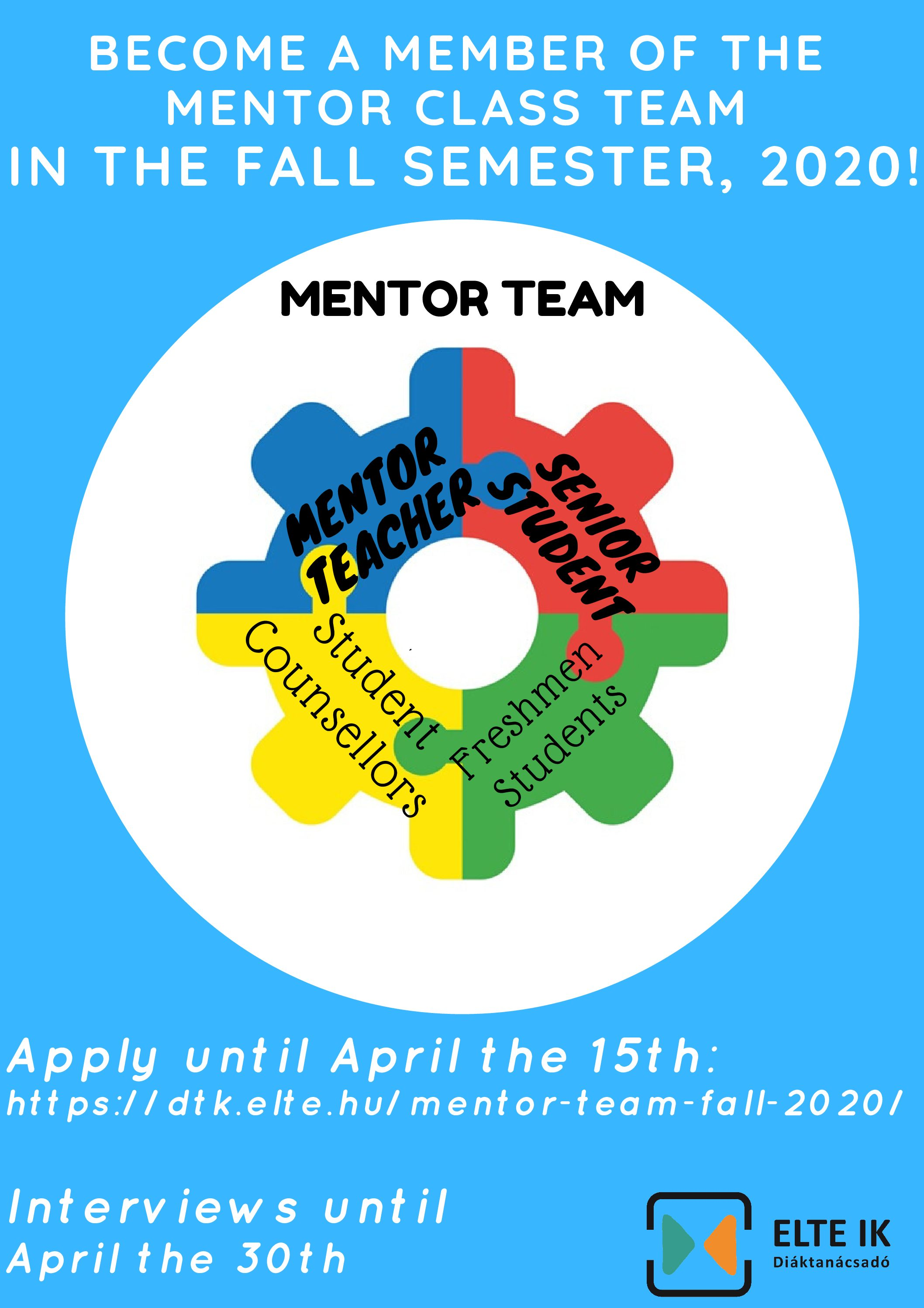 Mentor Team, Fall 2020