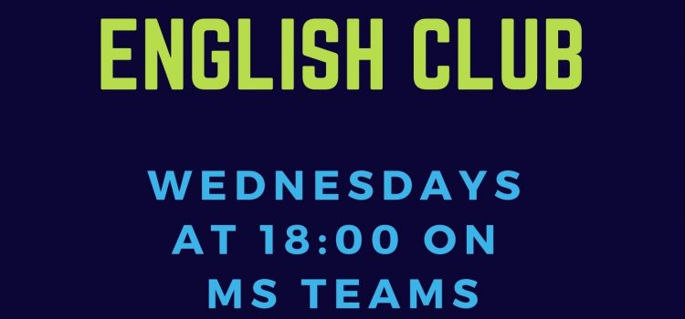 English Club, Wednesdays 18:00