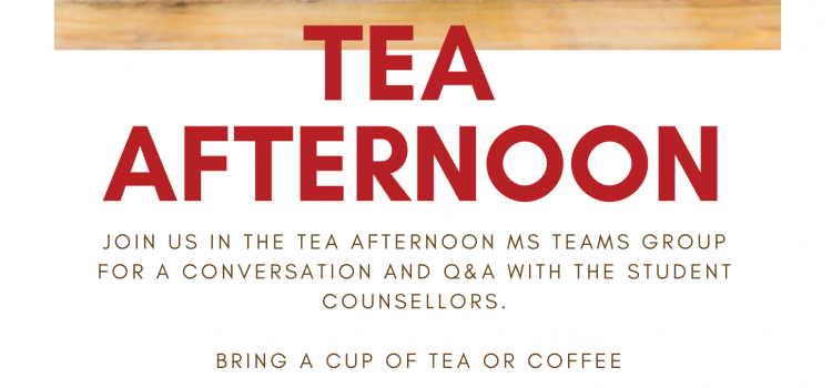 Tea Afternoon Thursdays 14:00-15:00